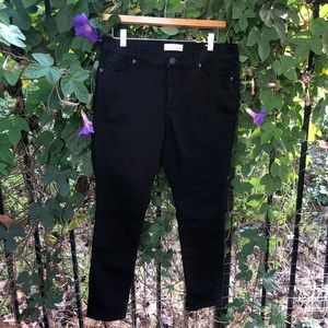 Ann Taylor Loft black skinny jeans 32